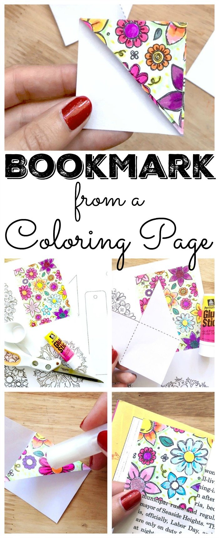 Make your Own Bookmark by The Country Chic Cottage