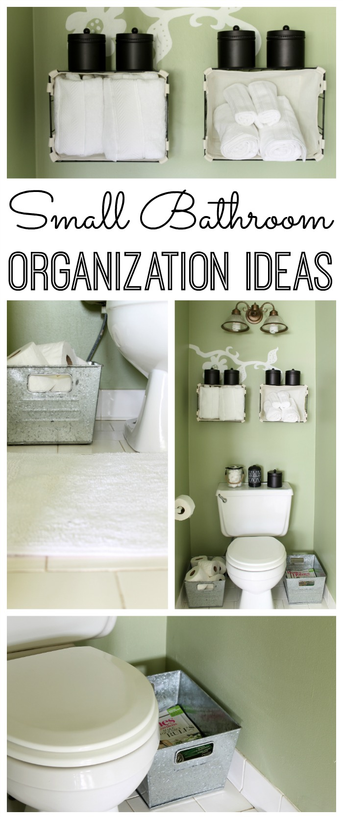 Small Bathrooms Organization small bathroom organization ideas - the country chic cottage