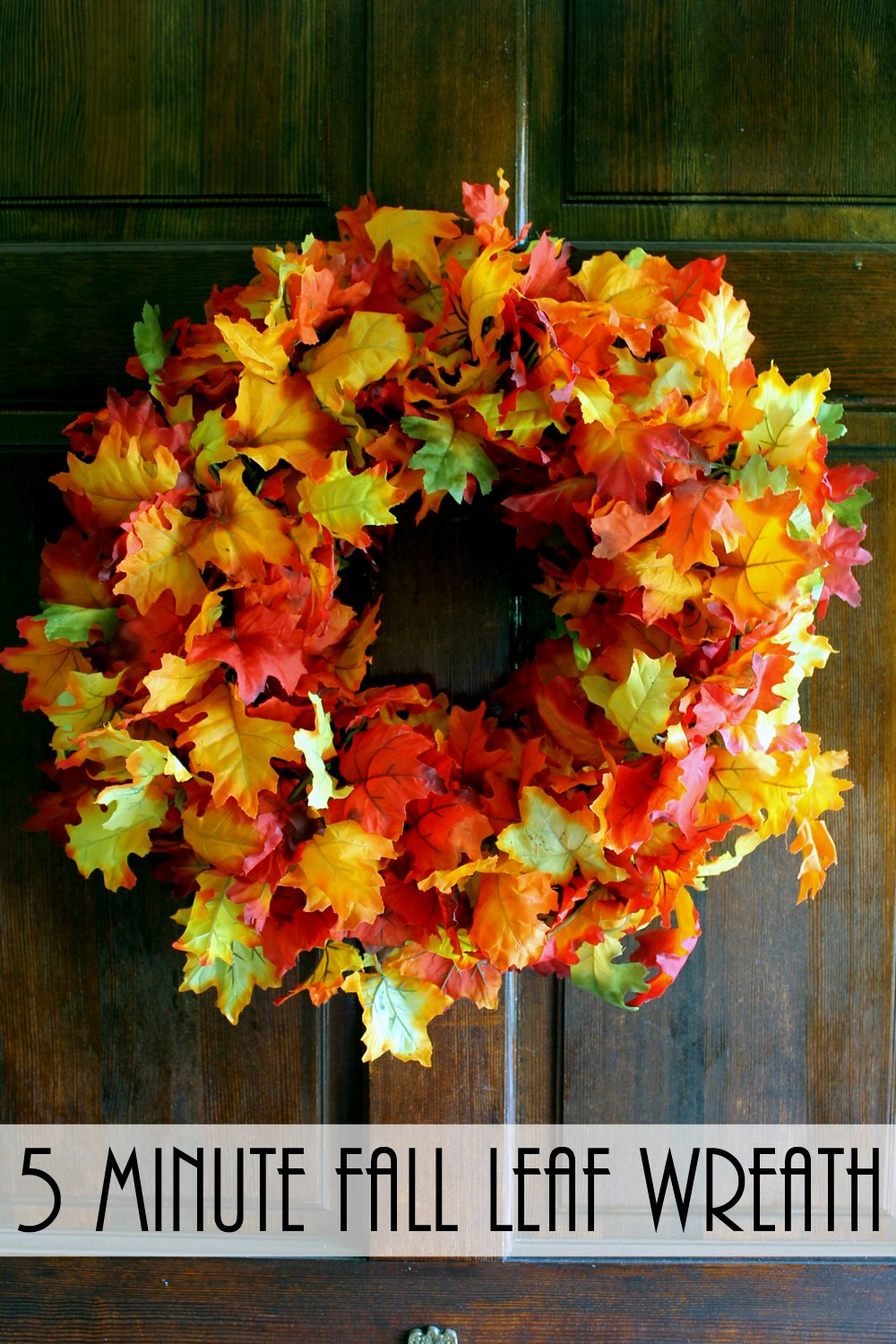 Add This Fall Wreath To Your Front Door! It Is Quick And Easy To Make