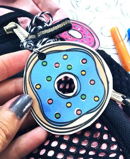 Make your own cute donut tags