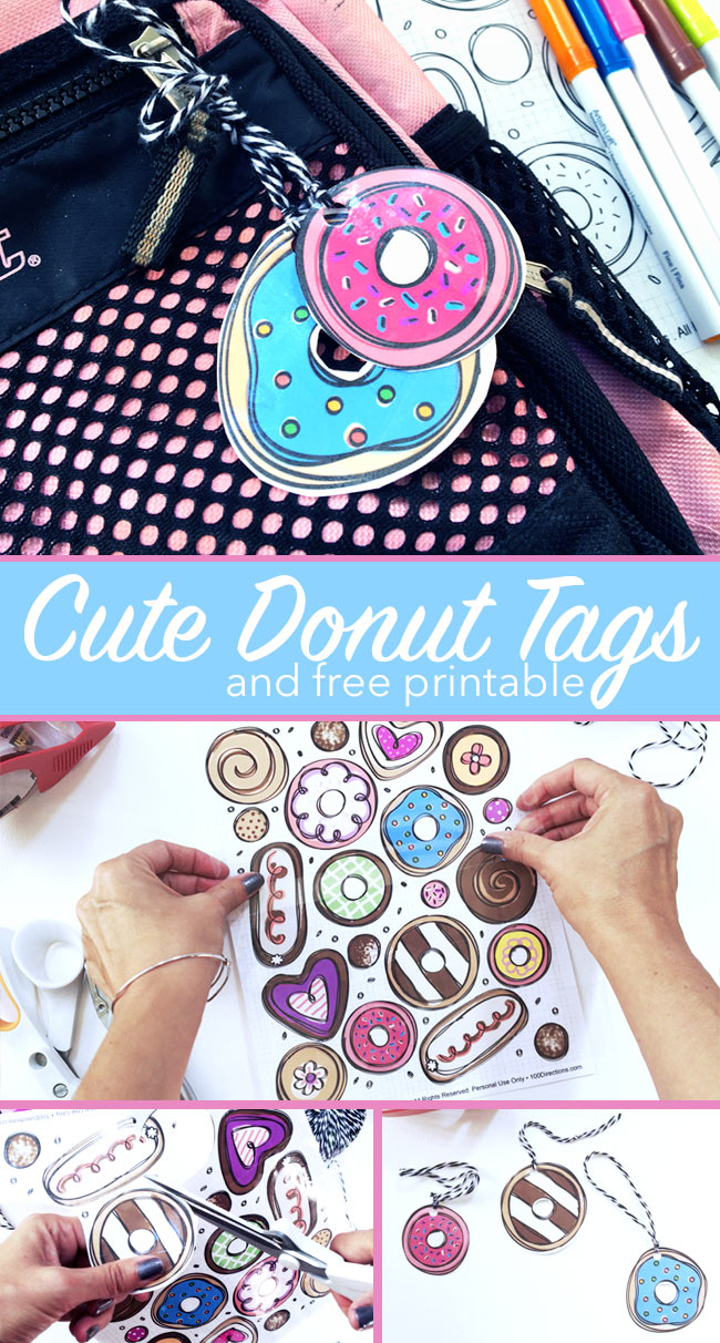 Cute donut tags you can make