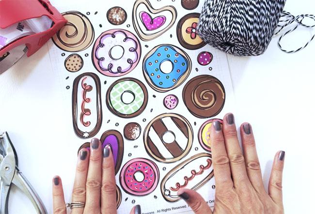 Cute donut tag DIY project