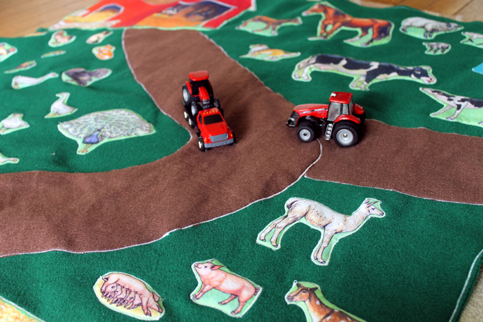 Diy Farm Play Mat Handmade Gift Idea The Country Chic