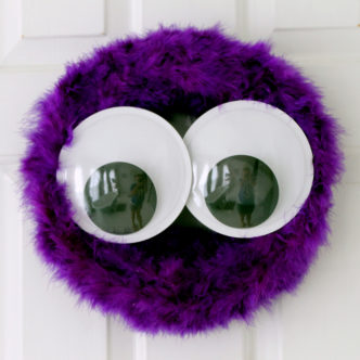 Monster Wreath for Halloween