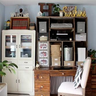 Farmhouse Style Office Area on a Budget