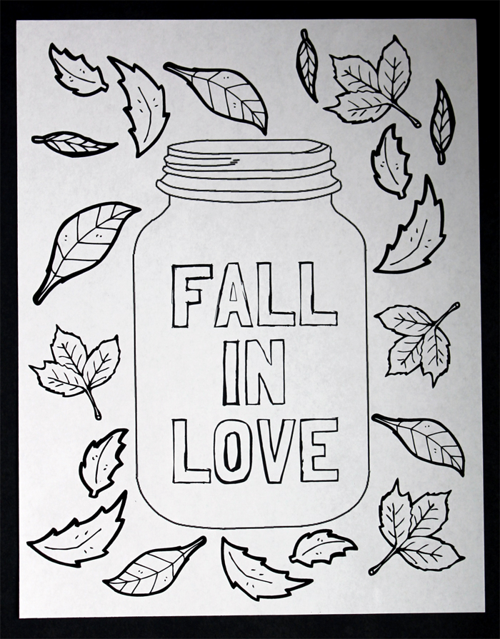 Mason Jar Coloring Page Free Printable The Country Chic Cottage