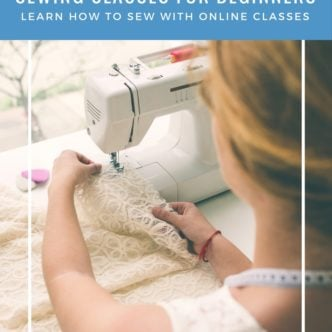 Sewing classes for beginners - learn how to sew with online classes!