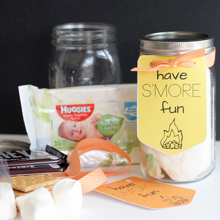Give this s'more gift in a jar to anyone on your gift giving list! A great way to spread happiness and fun! Would make a great random act of kindness!