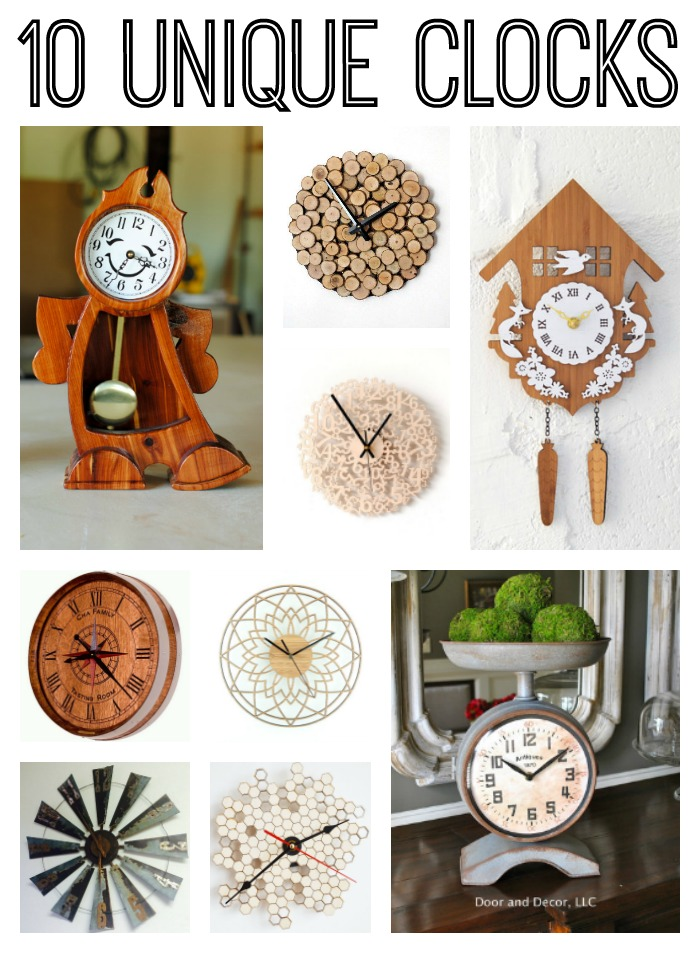 These 10 unique clocks are great for gifts!