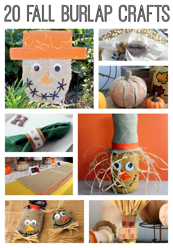20 Fall Burlap Crafts that you will love this autumn!