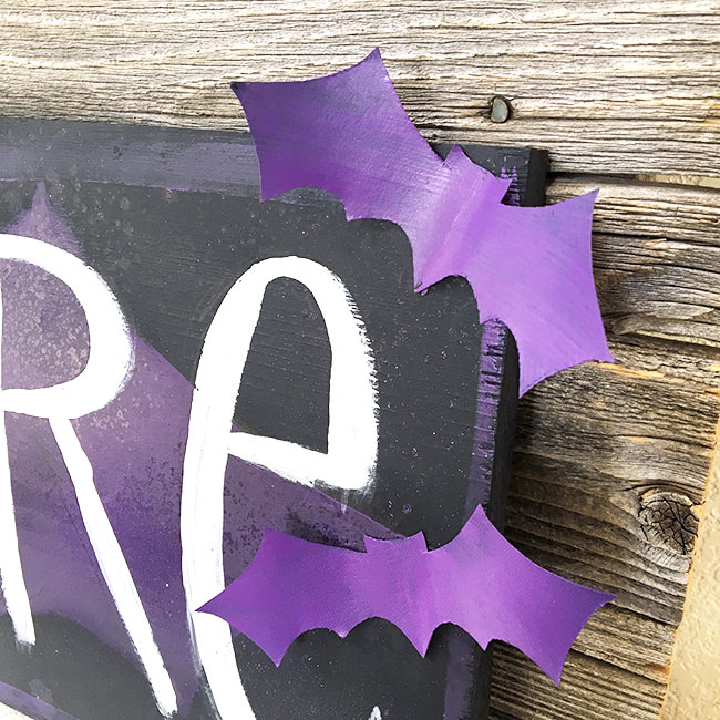 DIY bat decor