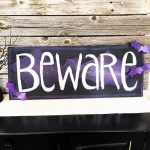 Beware Bat Sign - DIY Halloween Decor by Jen Goode