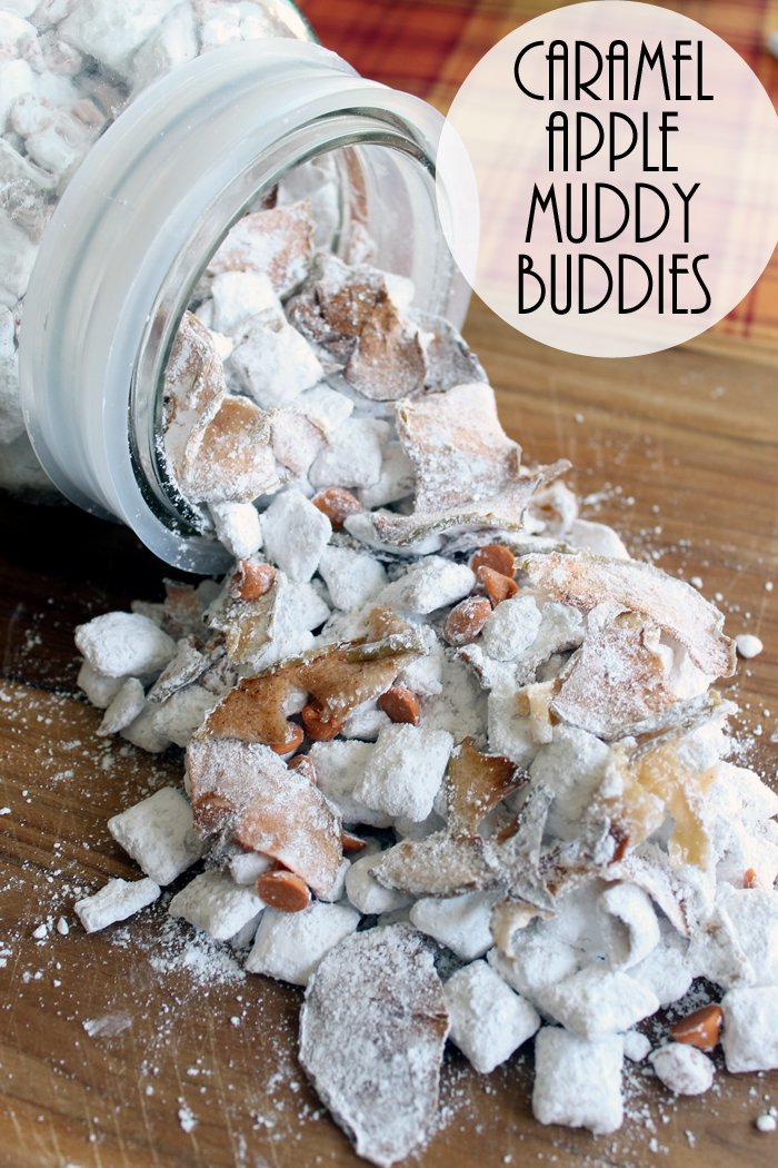 Caramel Apple Muddy Buddies are perfect for fall! Get the recipe!