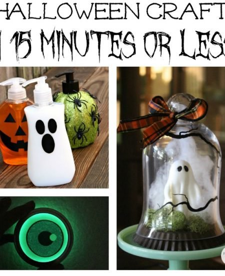 Over 40 Crafts for Halloween that can be made in 15 minutes or less!