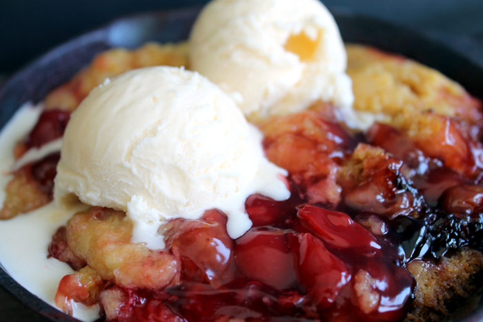 Crockpot cherry dump cake recipe in a slow cooker!