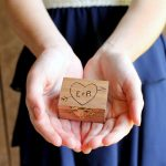 Make this DIY ring bearer box for your wedding! Easy to make and perfect for a rustic wedding!