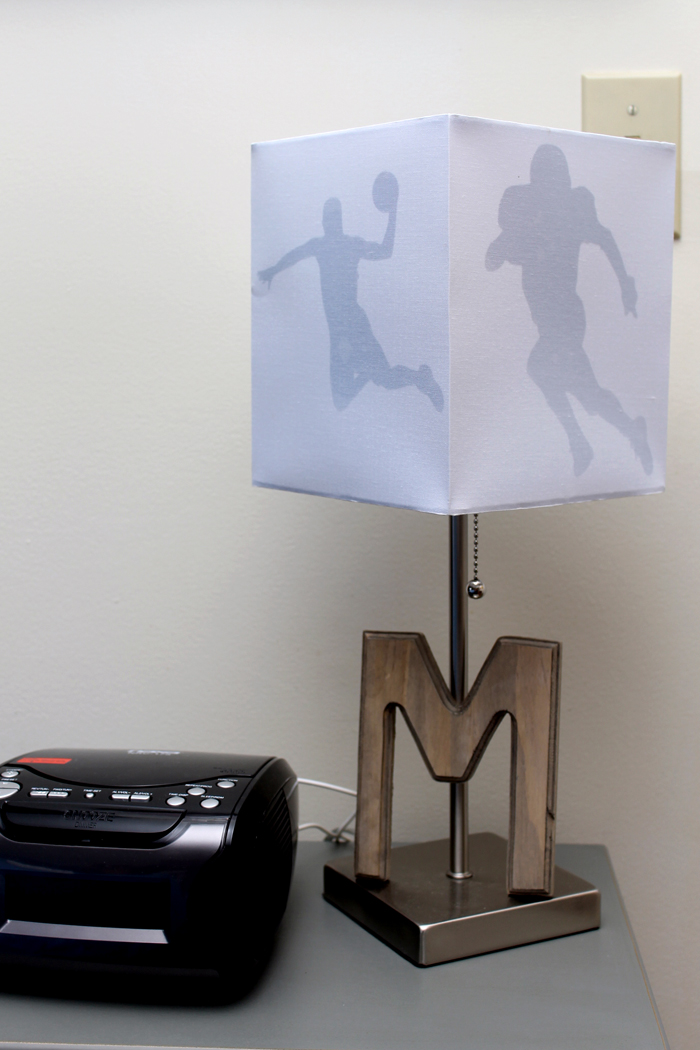 DIY sports lamp - turn any lamp into something special in minutes!