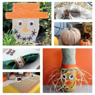 Fall Burlap Craft Ideas