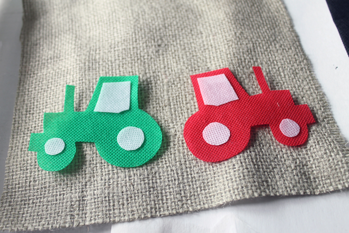 Making a tractor theme first birthday highchair banner