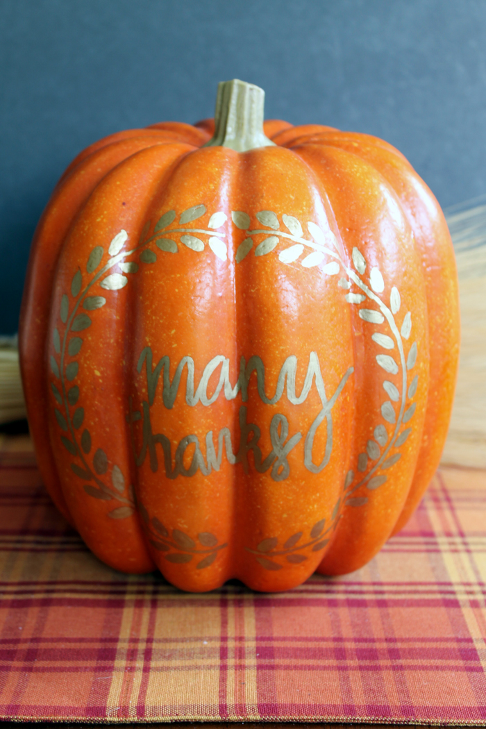 Make this thankful pumpkin a Thanksgiving tradition in your home! Write what you are thankful for each year on the back of the pumpkin!