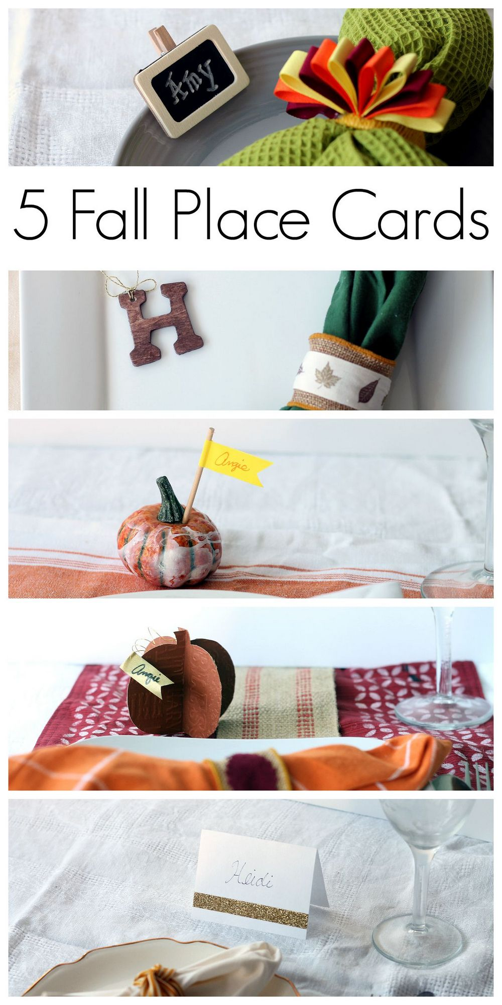 thanksgiving place card ideas the country chic cottage. Black Bedroom Furniture Sets. Home Design Ideas