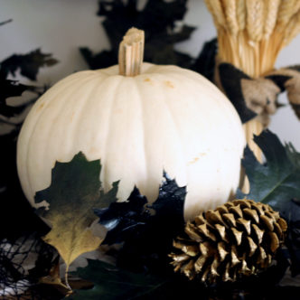 See how using sticks and leaves for Halloween decor can be an affordable (and scary) alternative!