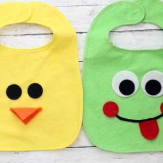 Handmade Gift:  Animal Bibs for Baby