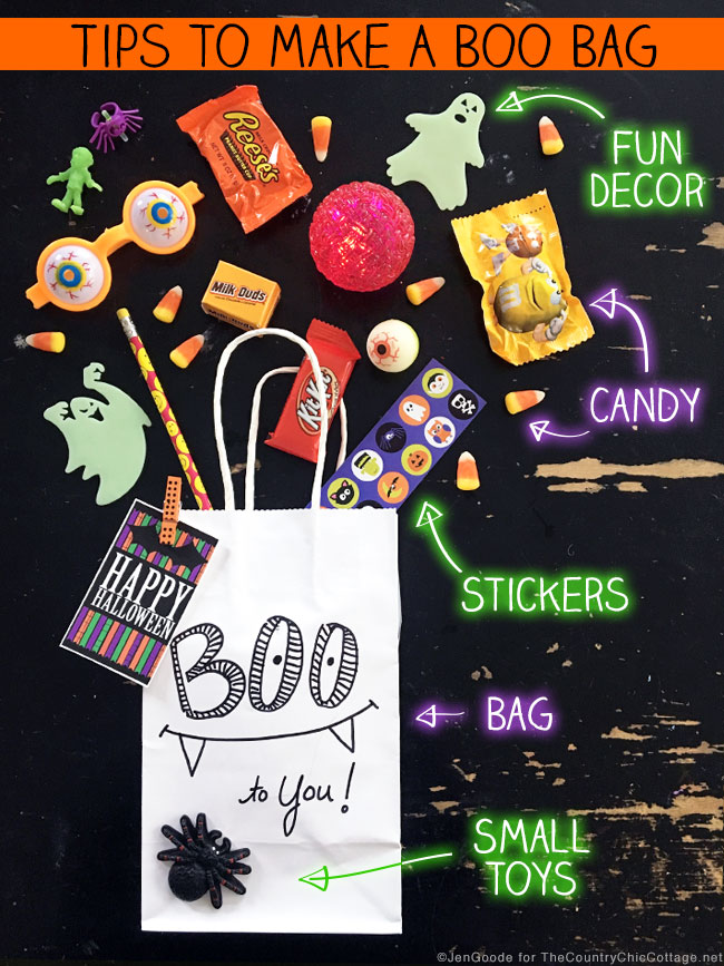 Tips to make your own halloween boo bags