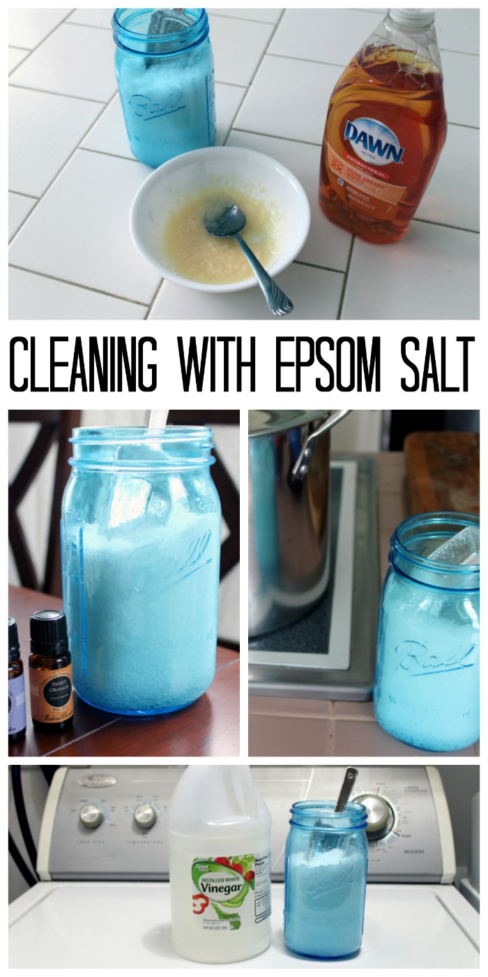 Cleaning with epsom salts - ideas for using epsom salts to clean your home!