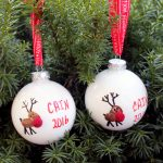 Fingerprint Christmas Ornament: Make this reindeer ornament for your tree with the kids!