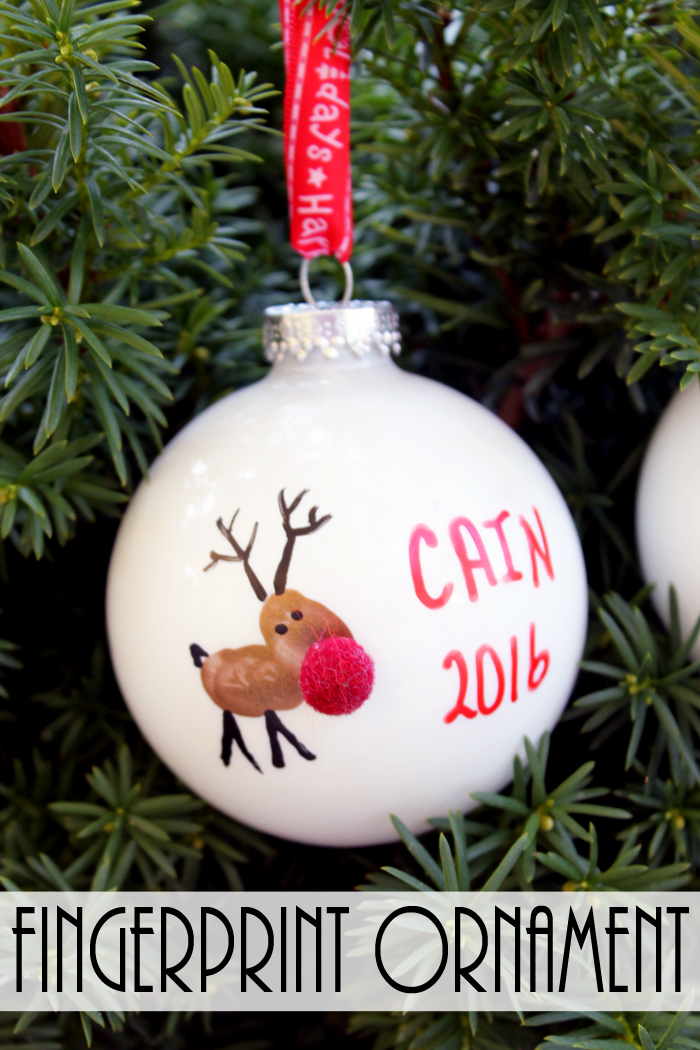 Construction Reindeer Ball Ornament Craft