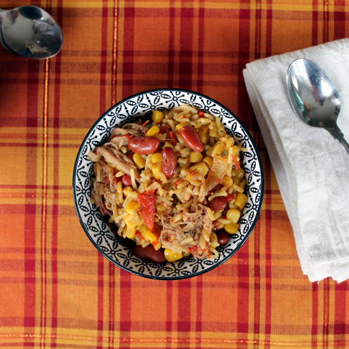 Jerk Pork Rice Bowl in the Crock Pot