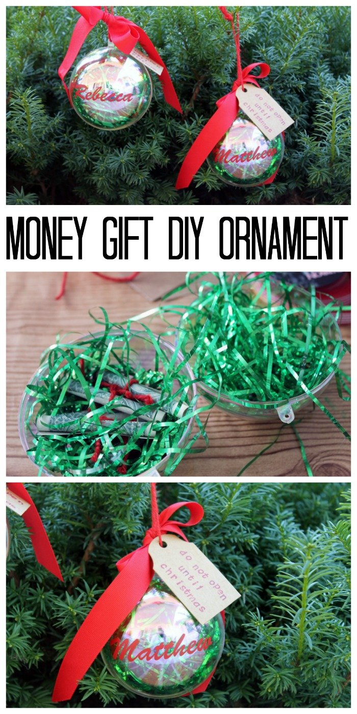Money gift diy ornament the country chic cottage Country christmas gifts to make