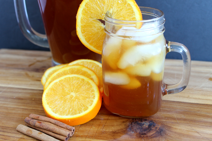 This recipe for orange spice sweet tea will become your new favorite fall drink!