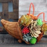Make a succulent cornocopia for your decor this fall!