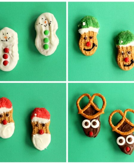 Nutter Butter Cookies for Christmas - instructions on how to make all four of these great no bake Christmas cookies!