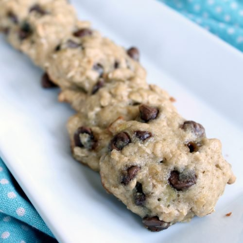 Banana Chocolate Chip Cookies - an amazing recipe for leftover bananas! They are like banana bread cookies!