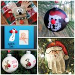 Christmas crafts for kids using prints - hand, foot, and finger print ideas!