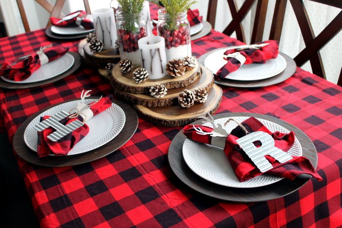 Plaid Christmas Table Ideas The Country Chic Cottage