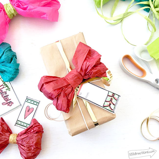 tissue paper bows for gifts