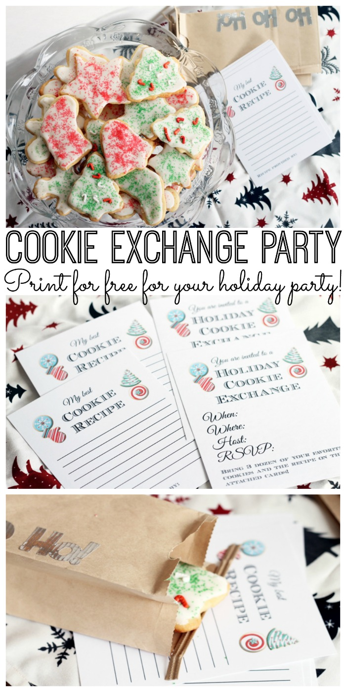Cookie Exchange Party Free Printables - invitations, recipe cards, and ideas for your cookie exchange party!