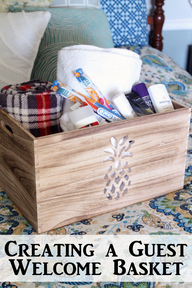 Guest Welcome Basket The Country Chic Cottage
