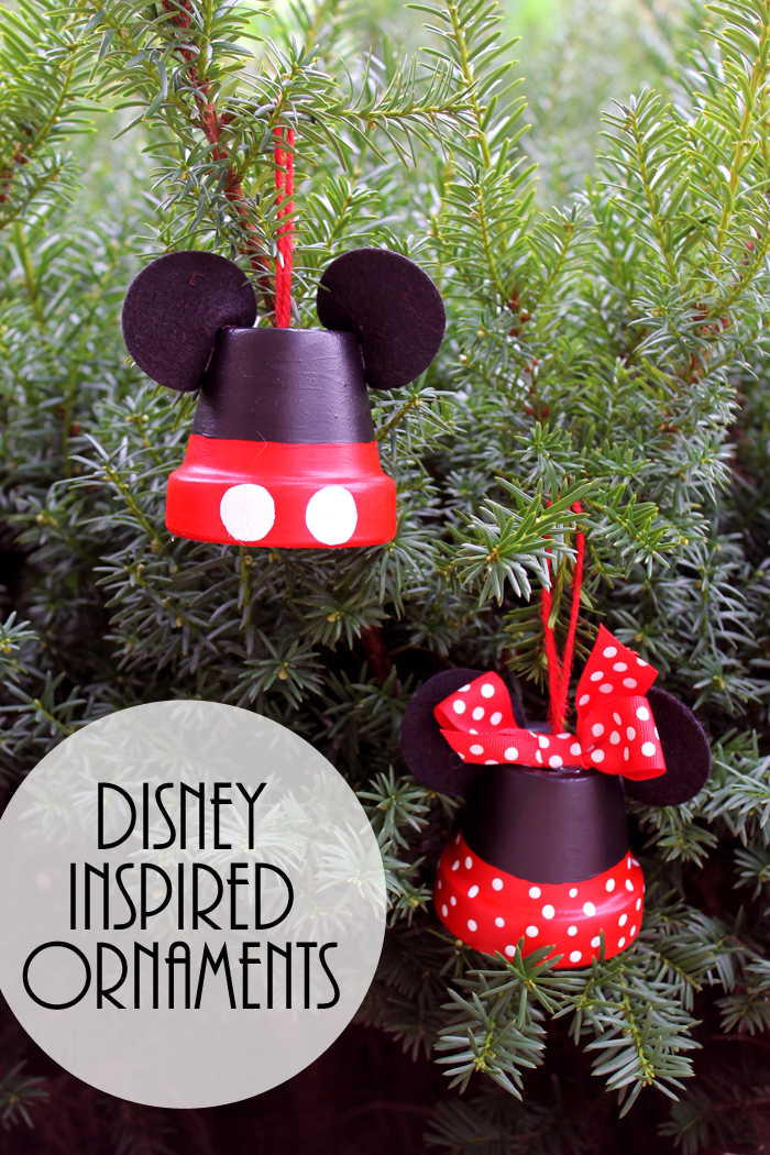 these mickey and minnie ornaments are perfect for your tree make your own disney inspired