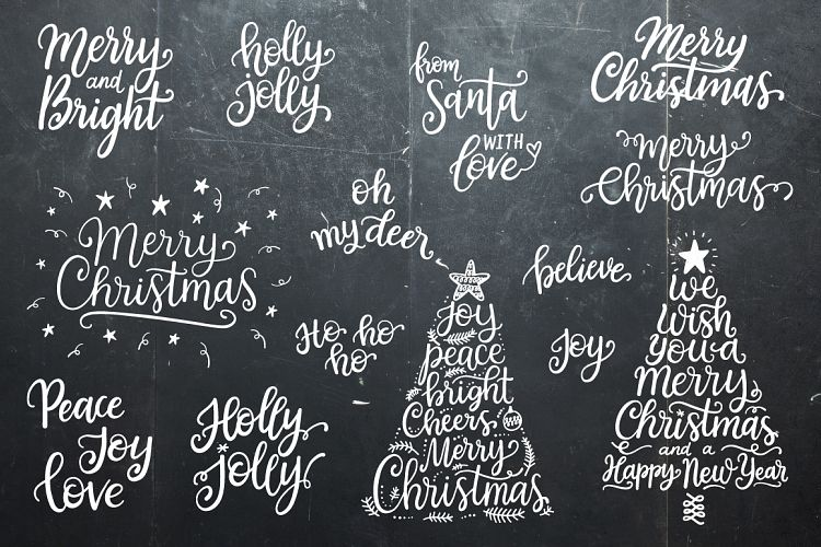 18 Christmas fonts and so much more! A great bundle package deal that you don't want to miss!
