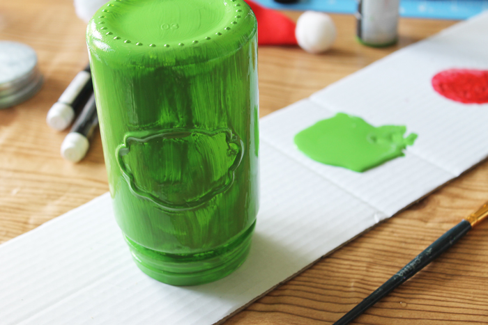 Grinch Mason Jar - Make your Own! - The Country Chic Cottage