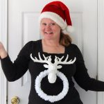 Learn how to make this ugly Christmas sweater! Great for those ugly sweater parties!