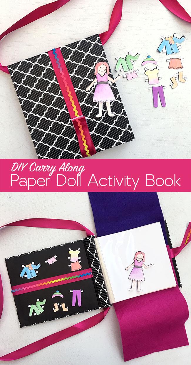 DIY Paper Doll activity set