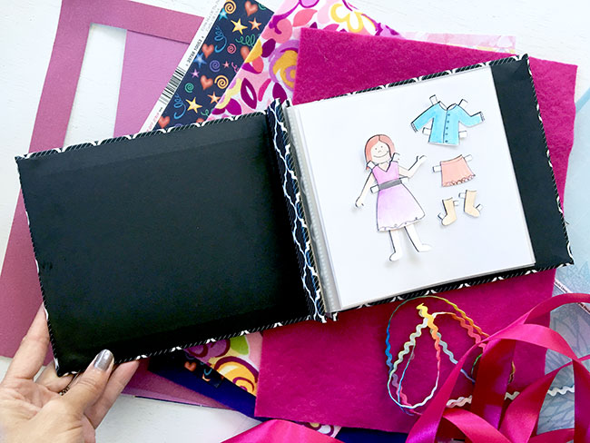 Paper doll travel kit craft