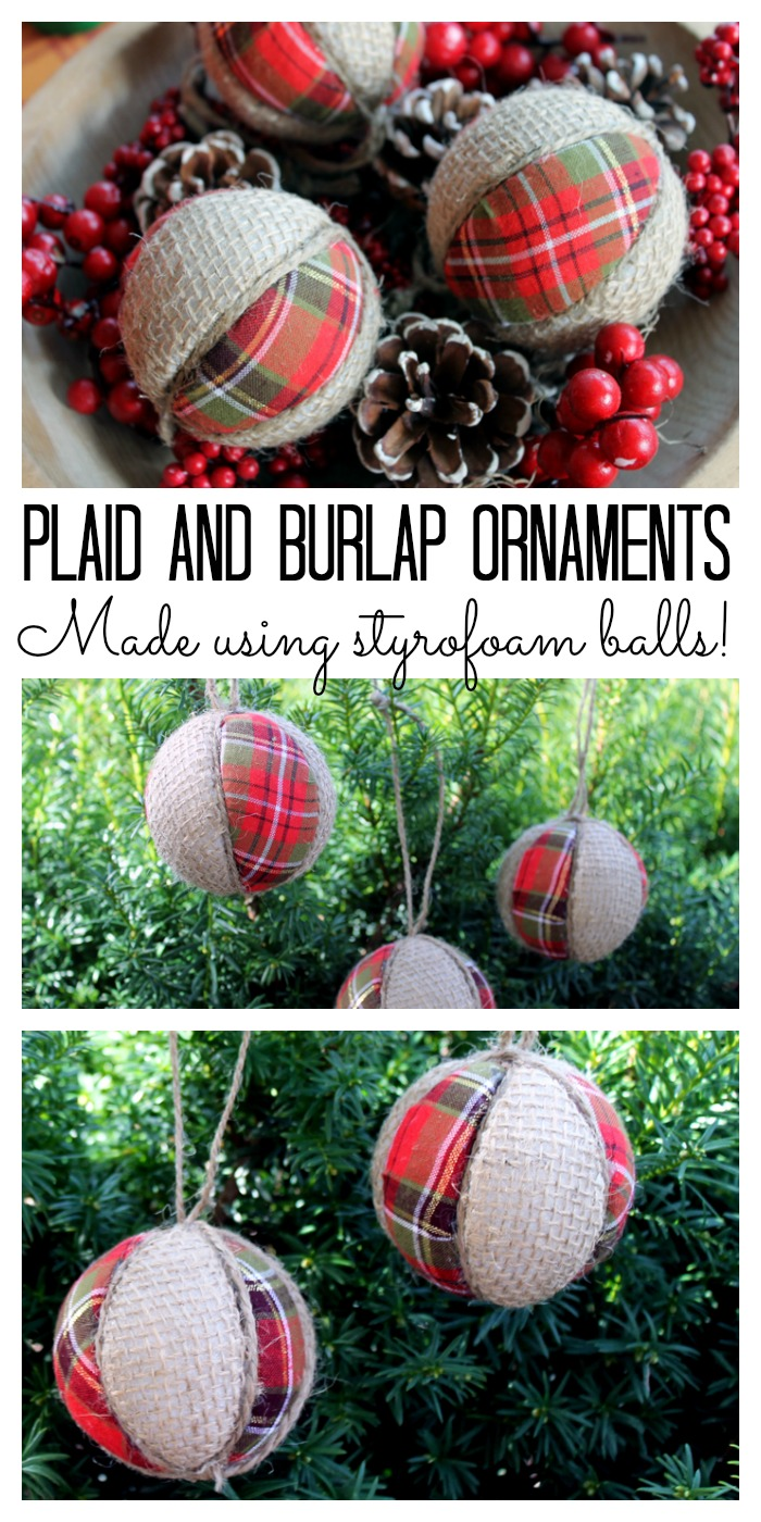 Plaid and burlap ornaments the country chic cottage plaid and burlap ornaments make your own easily using styrofoam balls great video tutorial solutioingenieria Gallery