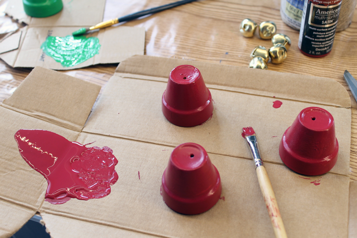 Terra Cotta Bells - DIY Christmas ornaments for your tree that can be made in minutes!